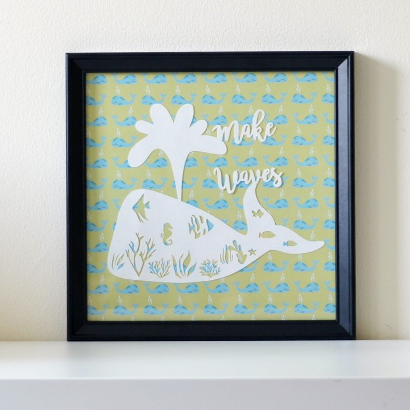 Personalised Birth board Papercut-0