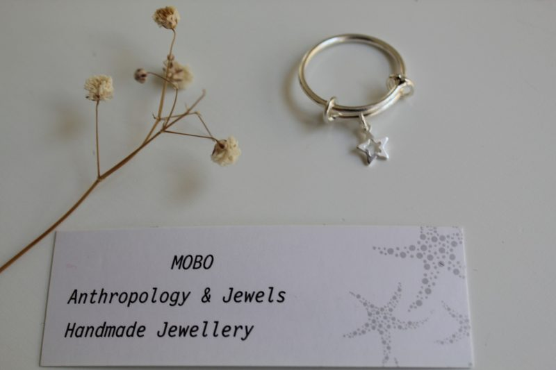 Adjustable ring gold colour with optional charm-0
