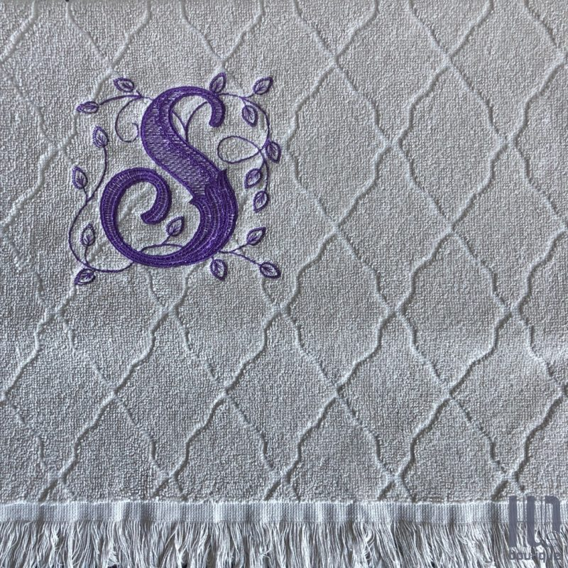 Custom Embroidered Initial Hand Towel, Gift for Kids, Teens ans Adults-2065