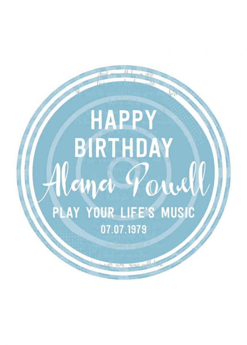 Typography - Happy Birthday Fave Songs 1-Framed A4 print-Black-1783