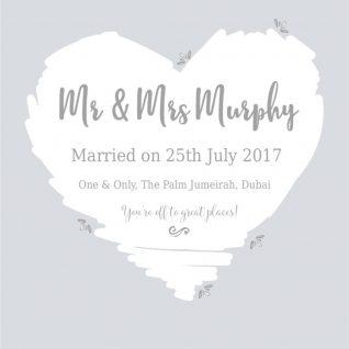 Typography - Wedding Heart 1-Black-Framed A4 print-0