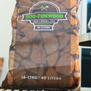 5 Sacks of Premium European Kiln Dried Firewood 16KG Each-0