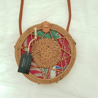 Round Rattan Bag - Kewarang-0