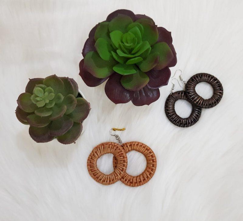 Handmade Rattan Earrings-0