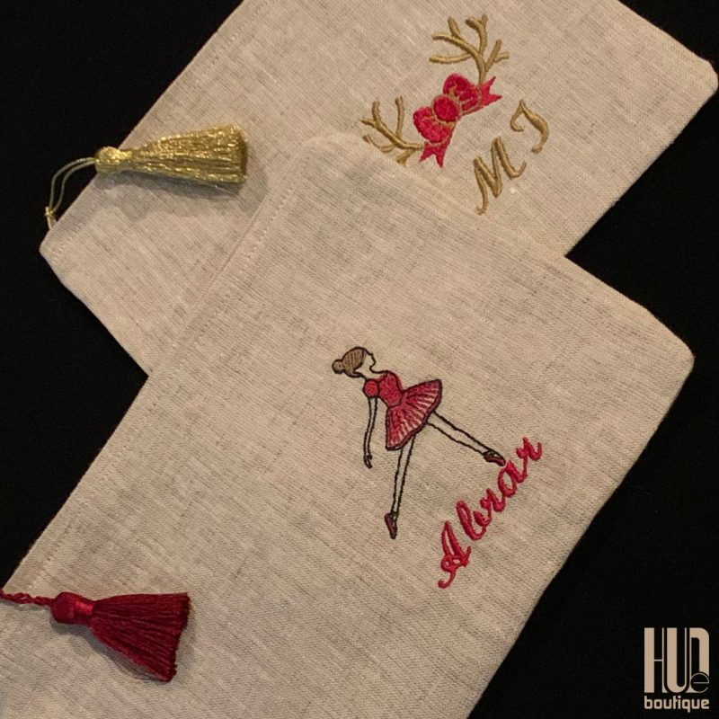 Handmade Custom Embroidered Makeup Pouch-3210