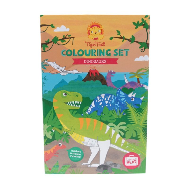 Tiger Tribe Colouring Set - Dinosaur-3265