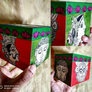 Kalamkari Jewelry Box / Storage box-0