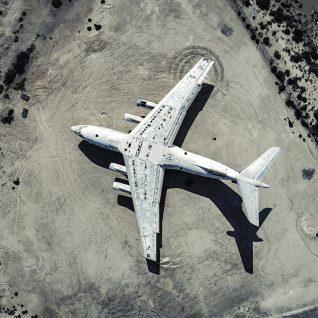 Vintage plane framed photograph-0