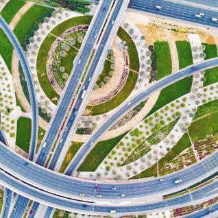 Road network framed photograph-0