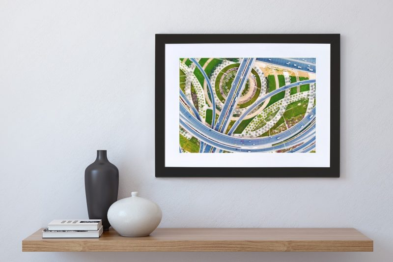 Road network framed photograph-4263