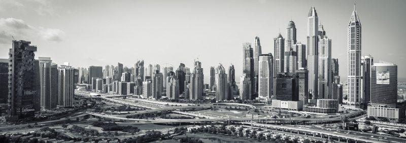 Dubai skyline framed photograph-0