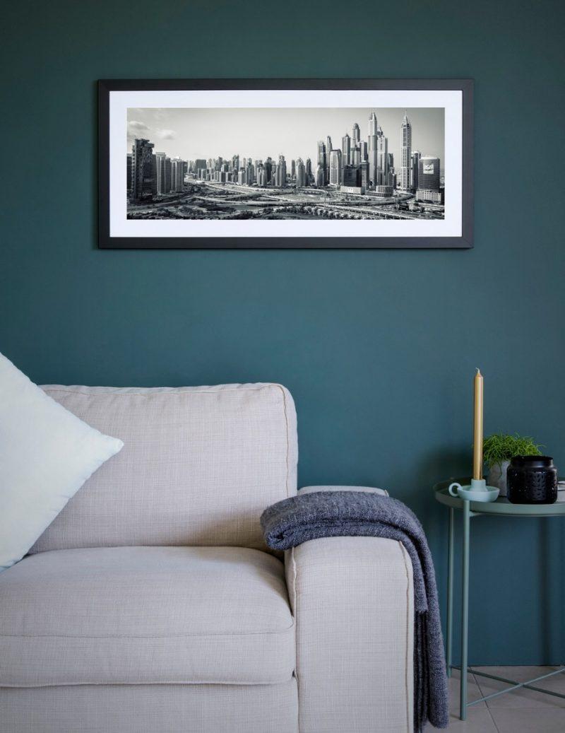 Dubai skyline framed photograph-4265