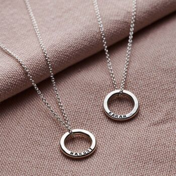 Personalised Mini Message Necklace-3406