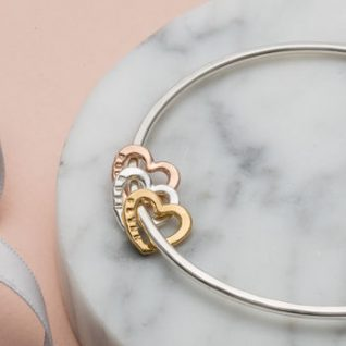 Personalised Heart Bangle -0