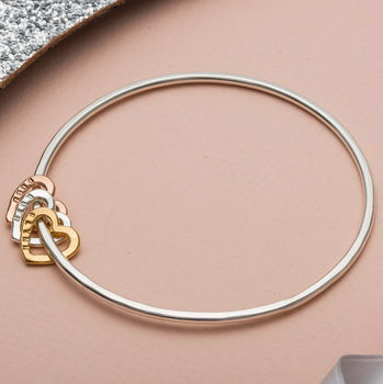Personalised Heart Bangle -4215