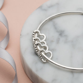 Personalised Heart Bangle -4217