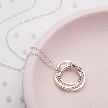 Personalised Large Russian Ring Necklace -3848