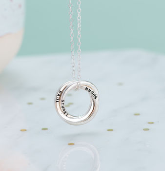 Personalised Large Russian Ring Necklace -3849