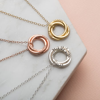 Personalised Large Russian Ring Necklace -3853
