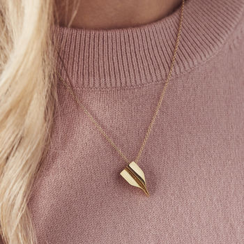 Personalised Paper Plane Necklace -0