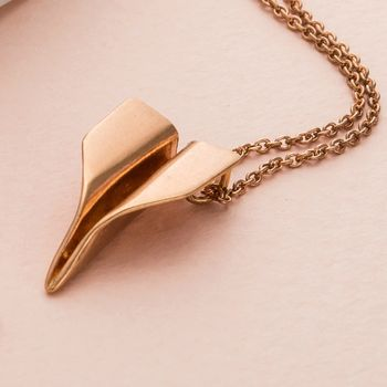 Personalised Paper Plane Necklace -3943