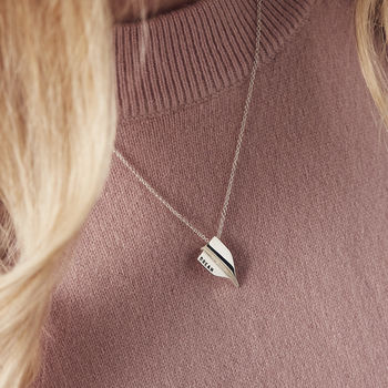 Personalised Paper Plane Necklace -3944