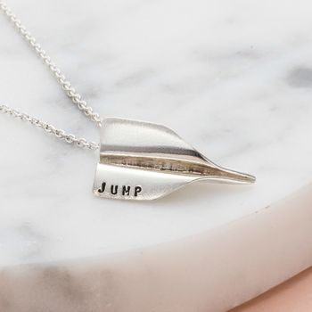 Personalised Paper Plane Necklace -3945