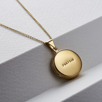 Personalised Small Round Locket Necklace -3786
