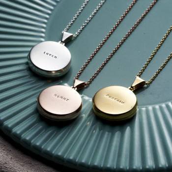 Personalised Small Round Locket Necklace -3790