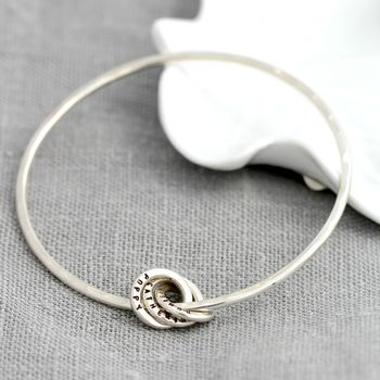 Personalised Russian Ring Charm Bangle -3708