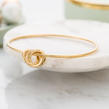 Personalised Russian Ring Charm Bangle -3710