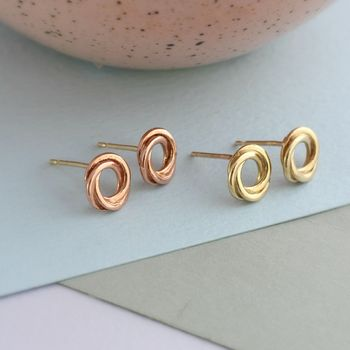 Russian Ring Stud Earrings -3729