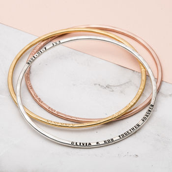 Personalised Message Bangle -3923