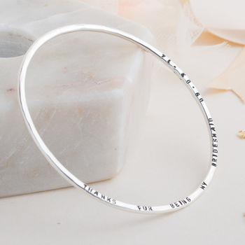 Personalised Message Bangle -3924