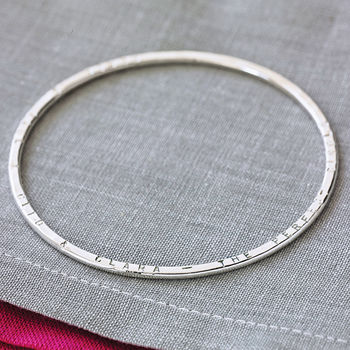 Personalised Message Bangle -3926