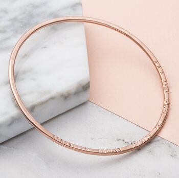Personalised Message Bangle -3927