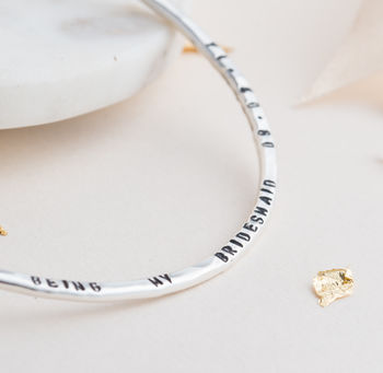 Personalised Message Bangle -3928