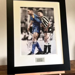 Gazza & Vinnie Signed Picture -0