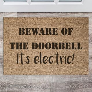 Doormat - Beware of the doorbell-0