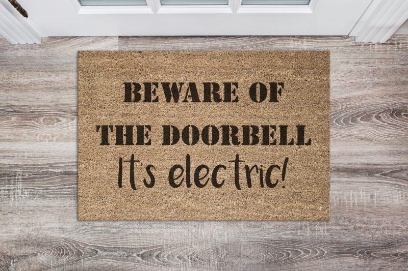Doormat - Beware of the doorbell-0