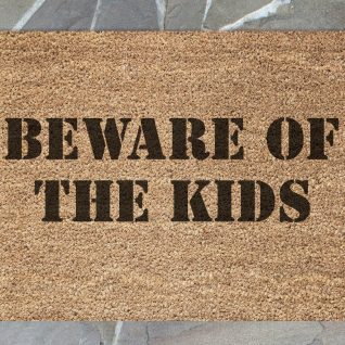 Doormat - Beware of the kids-0