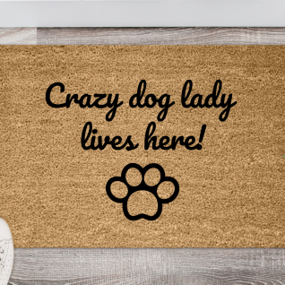 Doormat - Crazy dog lady-0