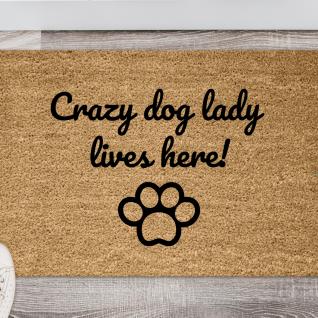 Doormat - Crazy dog lady-0