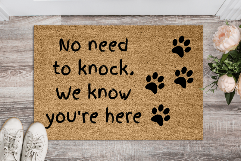 Doormat - We know you're here. No need to knock.-0