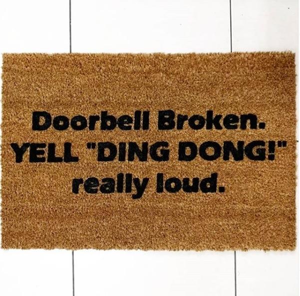 Doormat - Doorbell broken-0