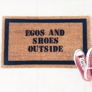 Doormat - Ego's and shoes outside -0