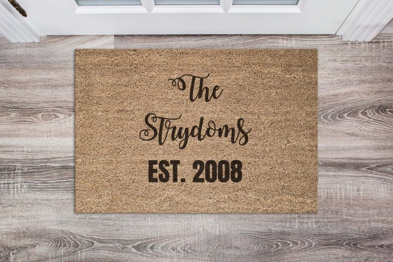 Doormat - Your own personalized door with name and special date-0