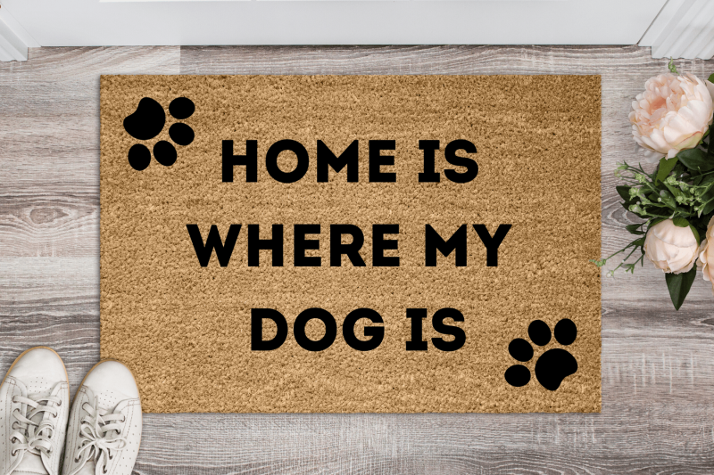 Doormat - Home is where my dog is-0