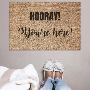 Doormat - Hooray you're here-0