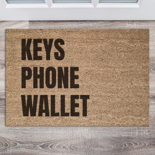Doormat - Keys, phone, wallet-0
